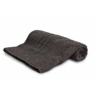 Sassoon Sandy Plain Cotton Bath Towel - Steel Grey
