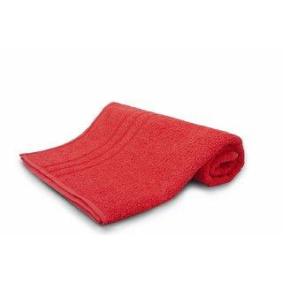 Sassoon Sandy Plain Cotton Bath Towel - Rose Red