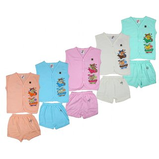 Kavin's Cotton Baby Set for Kids, Pack of 5, Multicoloured-158