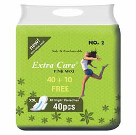 Combo Extra Care Pink Maxi Girls (Pack Of-50)