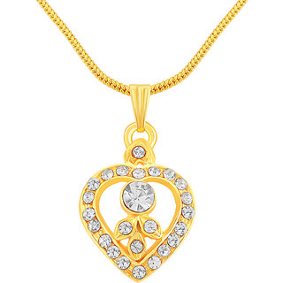 Shostopper Heart Gold Plated Pendant Chain SJ18003PB