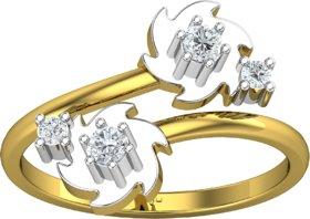 Jewel Hub Certified SI-IJ Diamond Sparkling Ring 0.18 ct / 2.85 gm 18k Yellow Gold JRG3046