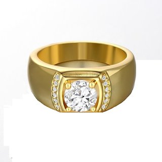 RM Jewellers 92.5 Sterling Silver American Diamond Life Style Ring for Men