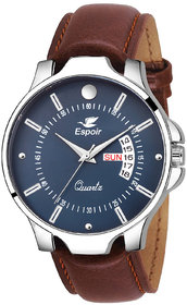 Espoir Analogue Blue Dial Day and Date Men's Boy's Watch - NailDex0507