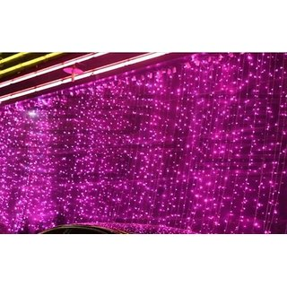 3x3M 300LED Waterfall Waterproof Meteor Shower Rain LED String Lights For Holiday Light Wedding Xmas Christimas Party Dcor (Pink)