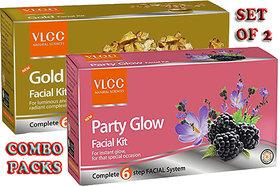 VLCC Gold Facial Kit + Party Glow Facial Kit Combo Pack