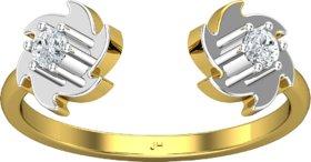 Jewel Hub Certified Diamond Sparkling Ring 0.13 ct / 2.10 gm 18k Yellow Gold JRG3045