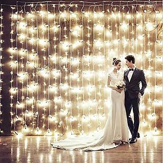 wholesale outdoor cheap decoration white led waterfall curtain lights (white)