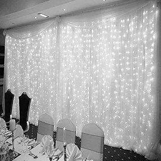 3x3M Waterfall 300LED Water Flow String Light Wedding Party Xmas Decoration white