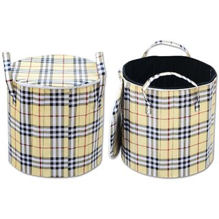 Attractivehomes Beautiful Foldable Round Laundary Basket