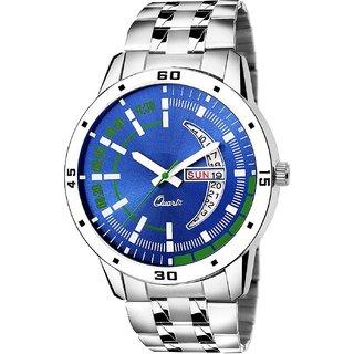 True Colors Men Day  Date Blue Dail Analog Watch For Men  Boys Watch