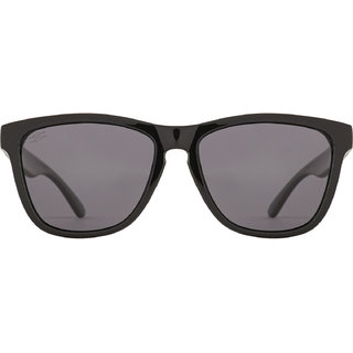 Rozior Black Polarized Wayfarer Unisex Sunglasses