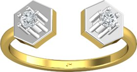 Jewel Hub Certified SI-IJ Diamond Sparkling Ring 0.13 ct / 2.20 gm 18k Yellow Gold JRG3038
