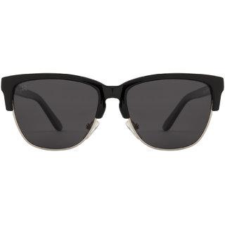 Rozior Black Polarized Classic Half Frame Unisex Sunglasses