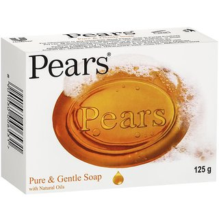 Pears Pure Gentle With Natural Oil Soap - 125g (Pack Of 3)
