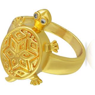 a4646432f246a Memoir Gold Plated Brass, Good Luck Tortoise Design, Vaastu, Fengshui  Stylish Fashion Finger Ring, Men Women Latest Design