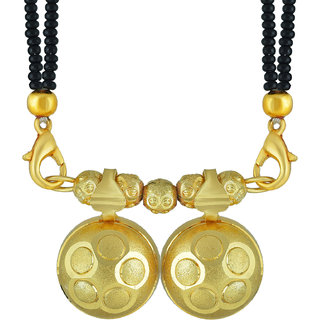 Memoir Gold Plated, Twin (Double) wati, Stylish Long Current Trend Traditional Mangalsutra Women Ethnic