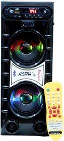 Barry John Mini Bahubali with AUX, USB, Bluetooth, FM  MMC (Black) 50W Bluetooth Home Audio Speaker