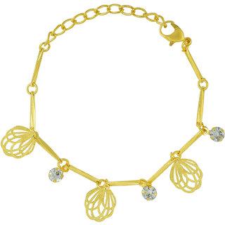 Memoir Gold Plated Hanging Charms, Simple Sleek and Sober, Fashion Bracelet Women Girls Jewellery Latest