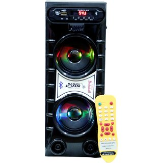 Barry John Mini Bahubali with AUX, USB, Bluetooth, FM  MMC (Black) 50W Bluetooth Home Audio Speaker