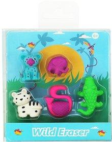Smily Kiddos |  Smily Fancy Wild Eraser Set