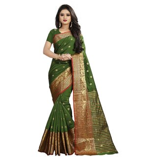 Pemal Designer Cotton Silk Saree With Jequard Boarder and Running Blouse BBC114H