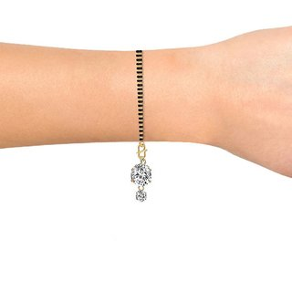 Wear The Shine Solitaire Mangalsutra Bracelet by GoldNera