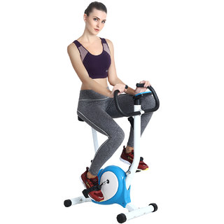 Supermarche Fitness Exercise Bike Pedal Perfect Home Cycle Weight Loss for Men and Women (White/Blue)