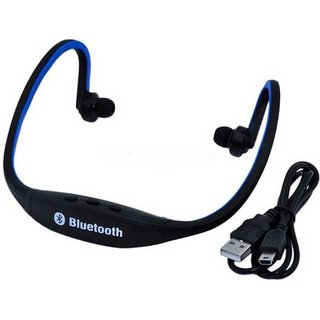 PREMIUM E COMMERCE BS-19 Neckband Wireless Headphones With Mic-  (Assorted Color)
