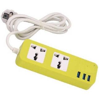 Smart Power Strip Extension Socket Plug With 3 USB Port 2.0 2 Universal Socket