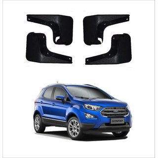 Trigcars Ford Ecosport Car Mudflap Set Of 4 + Free Car Blutooth