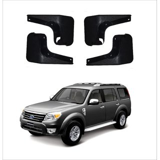 Trigcars Ford Endeavour Old Car Mudflap Set Of 4 + Free Car Blutooth