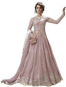 FASHION CARE  Present embroidered work Pink Semi-Stitched Anarkali Suit for women's KCZY23004
