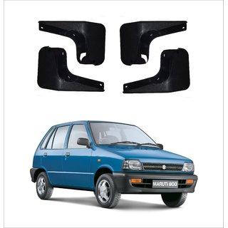 Trigcars Maruti Suzuki 800 Car Mudflap Set Of 4 + Free Car Blutooth