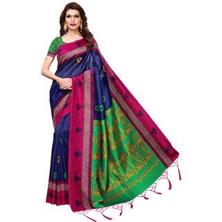 Vibhaa Blue Color Mysore Art Silksaree With Blouse Pice