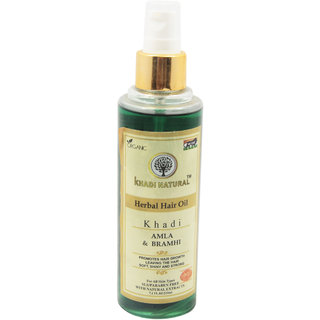 Khadi Natural Amla Bramhi Herbal Hair Oil 210 ml
