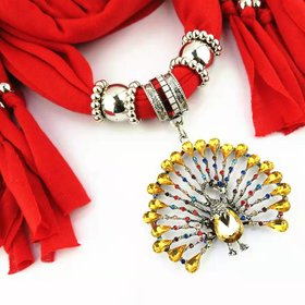 scarf stple with pendant jewellery