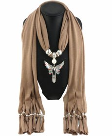 Peacock Necklace scarf Pendant scarf