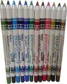 MeNow Perfect PRO Eyeliner Eyeshadow Lip Liner Waterproof Glitter Makeup Pen - 12 Color