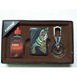 Earth cigarette lighter 3 IN 1 (LIGHTER/FUEL/KEY RING)