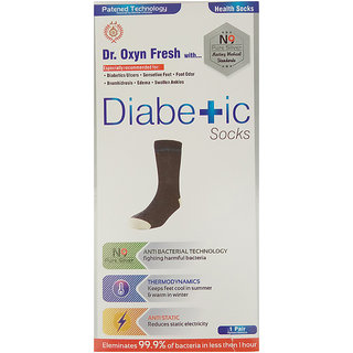 World Class Diabetic Silver Socks With Patented N9 Silver Technology - Useful In Antibacterial Anti-Odor Anti-Static