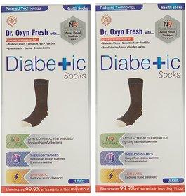 Dr. OXYN Silver Fresh Diabetic Care Socks - Best Health Socks For Men Women - Diabetic Socks (Pack Of 2)