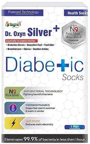 World Class Diabetic Silver+ Socks By Dr. Oxyn. Patented N9 Silver Technology For All Foot Problems Specially For Diabet