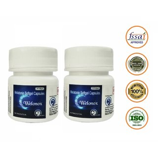 World Class Welonox Sleeping Pills - Non - Habit Forming - One Stop Solutions For All Sleep Related Problems (Pack Of 2)