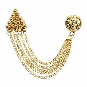 Sullery Men's Traditional Sherwani Brooch with Rose Gold Brass Brooch For Men Boys