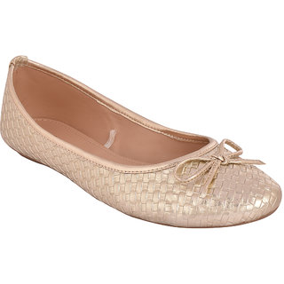 Flora Gold Textured Flat Bow Belly