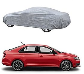 UV Resistant Car Cover For Renault Scala (Silver With Mirror )