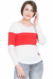 SBO Fashion Multicolor Full Sleeve Trendy Women T-Shirt 5249-Red
