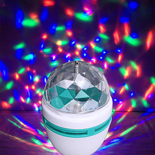 Disco Bulb Magic Rotating LED 360 Digree Crystal Light Bulb