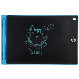 Tech Gear 8.5 Inch LCD Writing Tablet Drawing Board Writing Message Board Stylus eWriting Pen Tablet Notepad Blue